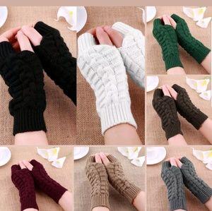 Fashion Unisex Men Women Knitted Fingerless Winter